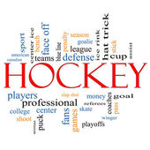 Hockey Word Cloud Concept — Stock Photo