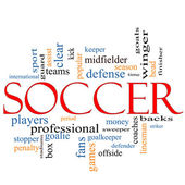 Soccer Word Cloud Concept — Stock Photo