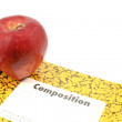 Apple for the teacher — Stock Photo