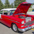 Red & White 1957 Chevy Bel Air — 图库照片