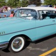 Powder Blue & White 1957 Chevy Bel Air - 图库照片