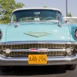 Powder Blue & White 1957 Chevy Bel Air Front View — Stock Photo #11789369