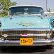 Powder Blue & White 1957 Chevy Bel Air Front View — Stock Photo