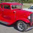 Stock Photo: Old Red Ford Hot Rod