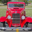Stock Photo: Old Red Ford Hot Rod Front
