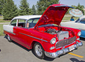 Red & White 1957 Chevy Bel Air — Stock Photo