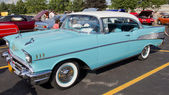 Powder Blue & White 1957 Chevy Bel Air — Stock Photo