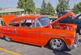 Orange 1957 Chevy Bel Air — Stock Photo