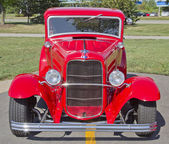 Old Red Ford Hot Rod Front — Stock Photo