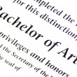 Постер, плакат: Bachelor of Arts Designation