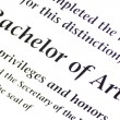 Bachelor of Arts Designation - Stock Photo