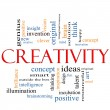 Stock Photo: Creativity Word Cloud Concept