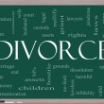 Divorce Word Cloud Concept on a Blackboard — Stock Photo #11796700