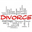 Divorce Word Cloud Concept Scribble in Red - Stockfoto