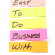 Easy to do business with sticky notes — Stock Photo