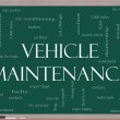 Vehicle Maintenance Word Cloud Concept on a Blackboard - Stock Photo