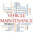 Vehicle Maintenance Word Cloud Concept — Stock Photo