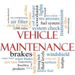Vehicle Maintenance Word Cloud Concept — Stock Photo
