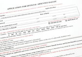 Application for Absentee Voting Ballot — Stock Photo