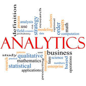 Analytics Word Cloud Concept — Stock Photo