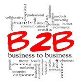 B2B Business to Business Red Scribble Concept — Stock Photo