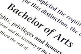 Bachelor of Arts Designation — Stock Photo