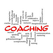 Red Caps Coaching Word Cloud Scribbled — Stock Photo