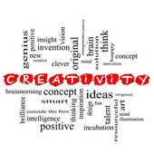 Creativity Word Cloud Concept Scribbled — Stock Photo
