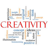 Creativity Word Cloud Concept — Stock Photo