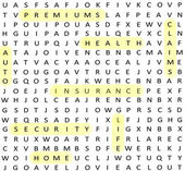 Insurance terms Word Search — Stock Photo