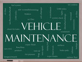 Vehicle Maintenance Word Cloud Concept on a Blackboard — Stock Photo