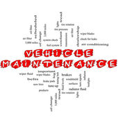 Vehicle Maintenance Word Cloud Concept Scribbled — Stockfoto