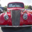 Stock Photo: 1937 Ford Club Coupe Red Front View