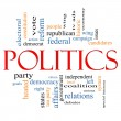 Politics Word Cloud Concept — Stock Photo