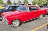 Red 1967 Chevy Nova — Stock Photo