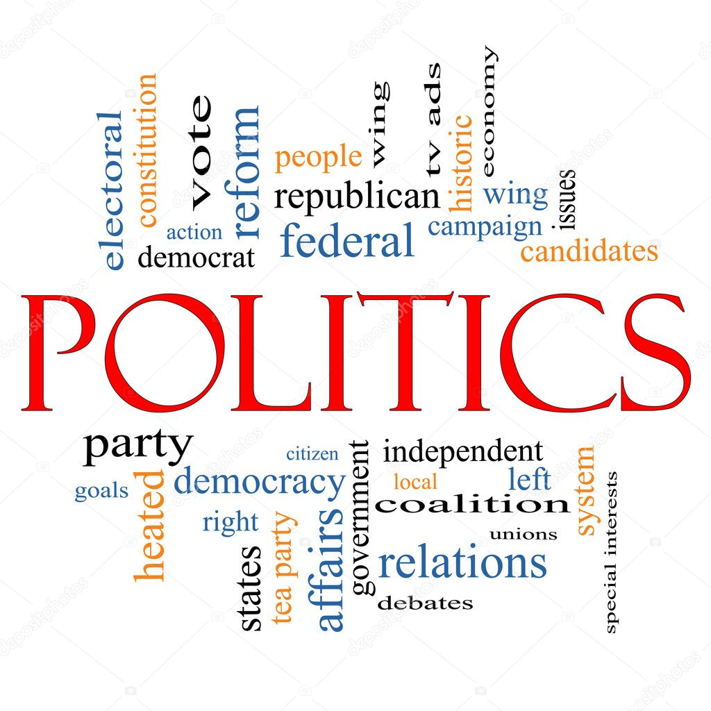 Politics Word Cloud Concept with great terms such as democracy, parties, federal, local, democrats, republicans and more — Stock Photo #11802159