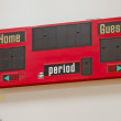 Red Score Board on a wall — Stock Photo