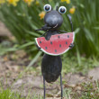 Ant Eating Watermelon Garden Statue — Stock Photo