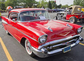 Two Door 57 Chevy Red — Foto Stock
