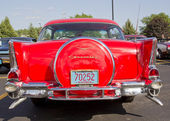 Two Door 57 Chevy Red Back View — Stock Photo