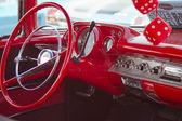 Two Door 57 Chevy Red Interior — Stock Photo