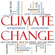Climate Change Word Cloud concept - Stock Photo