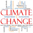 Climate Change Word Cloud concept — Stock Photo