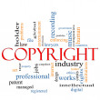 Copyright word cloud concept - Lizenzfreies Foto