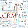 Stock Photo: CRM word concept illustration