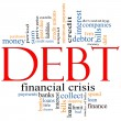 Debt Word Cloud Concept — Stock Photo #11929639