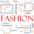 Fashion Word Cloud Concept — Stock Photo