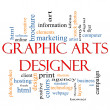 Graphic Arts Designer Word Cloud Concept — Stockfoto