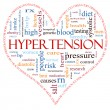 Hypertension heart shaped word cloud concept — Stock Photo