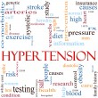 Hypertension Word Cloud Concept — Stock Photo #11929780